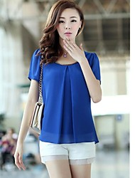Women's Puff Sleeve Loose Chiffon Blouse