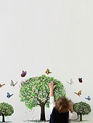 Botanique Big Tree Papillons Printemps Stickers muraux