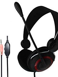 Stereo Headphones with Mic and Volume Control  for PC Multi-player Online Games with Retail Package