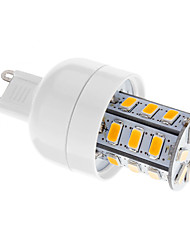5W G9 LED лампы типа Корн T 24 SMD 5730 80-350 lm Тёплый белый Регулируемая AC 220-240 V