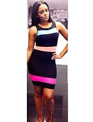 Женская Экспорт Мода Sexy Bodycon Шитье платья