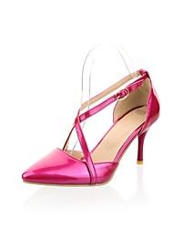 Patent Leder Damen Stiletto Pumps / High Heels mit Schnallenschuhe (weitere Farben)