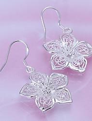 Oyami Cuprum Silvering Flower Shape Earrings