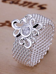Meles Snowflake Net Shape Ring
