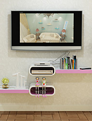 Modern Solid Color Arc Corner Line-shaped Decorative Storage Shelf