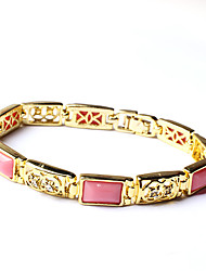 ME Gold Plated Stone Hollow Bracelet S0410