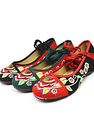 Women's Satin With Ribbon Dance Shoes Ballroom Flats Shoes (More Colors)