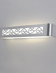 applique da parete led, 1 luce, moderno alluminio spazzolato 90-240v