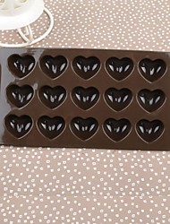 Silicone Color Box Love Cake Chocolate Mould,21.5x10.8x1.4cm(Random Color)