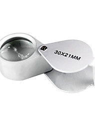 Aluminium Alloy Jewelry 30x21 Magnifying Glass