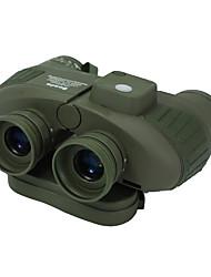 10X50 Waterproof and Night Vision Navy Binoculars Telescope with Rangefinder(Assorted Color)