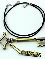 Mehre Accessoires Inspiriert von Attack on Titan Eren Jager Anime Cosplay Accessoires Schlüsselanhänger Gold Legierung Mann