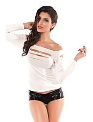 Luva longa-shirt das mulheres com refinado Cut