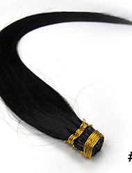 16Inch Stick/I Tipped Straight Fusion Hair Extensions More Dark Colors 100s/pake 0.4g/s