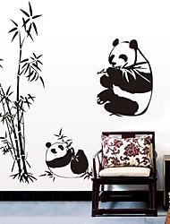doudouwo ® animaux le panda et bambou stickers muraux