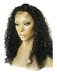 20 pouces Twist culry Remy Hair Lace Front perruque suisse de lacet en Recto Verso est stretch plus de couleurs disponibles