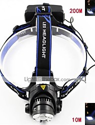 Marsing M11 Cree XM-L T6 3-Mode 900lm Cool White Zooming Headlight - Black + Blue (2 x 18650 Included)