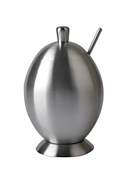 De alta calidad de forma de huevo del acero inoxidable de Spice Jar - Plata