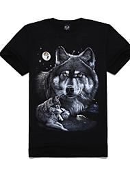 algodón m-imperio 3d nieve lobo manga corta camiseta