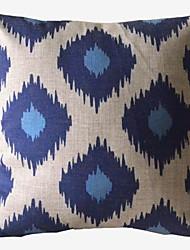 Impression Geometric Blue Box Decorative Pillow with Insert