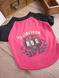 Olive Branch T-shirt de Black Pattern Lettre chien Animaux Chiens (assorties Tailles)