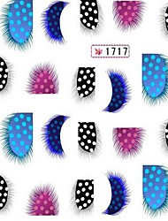 2шт печатание перехода воды мультфильм ногтей наклейки № 2 (разных цветов)