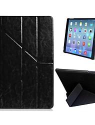 Qualidade Quad-fold Superb Flip Case de couro do falso com suporte para iPad Air (cores sortidas)