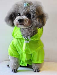 UV Resistant Raincoat Cloth for Pets Dogs