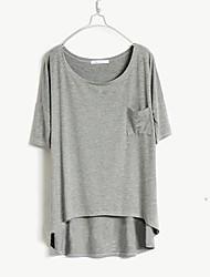 Manches Bat-Wing T-shirt lâche Femme Style