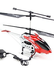 3CH ABS Marterial Mini Alloy R/C Helicopter with Gyro&Light  46CM Red Children Modal Toy