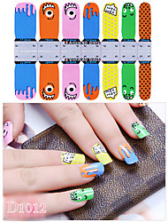 DF COLOR Manicura Suministros Nail Sticker Manicura Calcomanías (D1012)