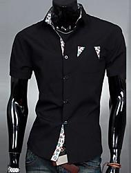 chemise à manches courtes occasionnel shirt col poche de mode de couleur de charme de lesen hommes o