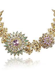 JANE STONE Luxurious Statement Necklace Crystal  Women Fashion Jewelry