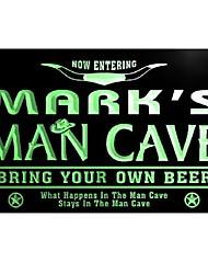 Cave Man Cowboys Bar Neon Light Enregistrez-vous de Mark pb014