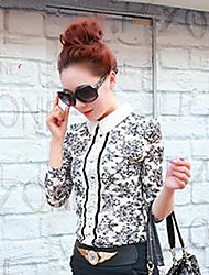 Women's Vintage Spring / Summer / Fall Blouse,Floral ¾ Sleeve Thin