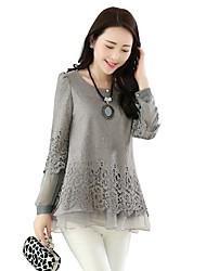 Women's Cotton/Polyester Casual/Cute SHINELEE