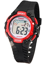 Time100 Kid'sColorful LCD Dial PU Band Display Mutifunctional Waterproof Electronic Sport Watch