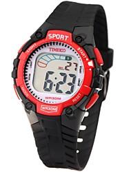 Time100 Kid'sColorful LCD wijzerplaat pu band Beeldscherm Mutifunctional waterdichte elektronische sport horloge