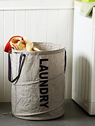 Orange® 1Pcs 70Litres Linen Fabric Dirty Clothing Storage Basket Laundry Basket Shower Baskets D43 *H55 CM