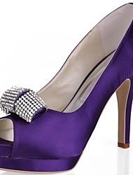 Women's Wedding Shoes Heels/Platform/Open Toe Heels Wedding/Party & Evening Black/Blue/Pink/Purple/Red/Ivory/White/Gold