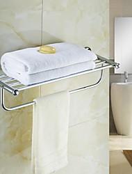 Élégant en laiton Porte-serviettes Crystal Silver