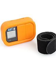 Protection en silicone de couverture de cas et ceinture pour GoPro Wifi à distance (jaune)