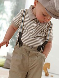 Toddler Set Gentleman Boy Bib Top avec Ensembles pantalons vêtements