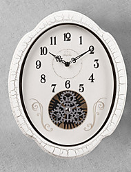 """15""""H Retro Classical Gear Style Wall Clock With White Side"""