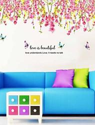 Ботанический Сакура Падение стикеры стены цветков