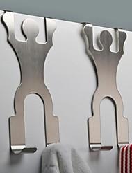 Orange ®  3Pcs 202#Stainless Steel Towel Hook Traceless Hook 9.5*7.5*22CM