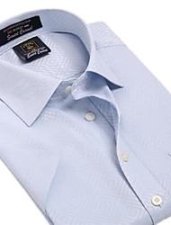 Summer formelle Manches courtes Motif affaires de U-hommes de requin bleu LT Plaids Shirts Tops Blouse EOZY DYF-007