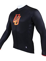 PALADIN® Cycling Jersey Men's Long Sleeve Bike Breathable / Thermal / Warm / Quick Dry / Ultraviolet Resistant Tops 100% PolyesterSpring