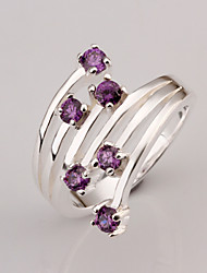 Meles Women's 925 Diamond Silver Ring