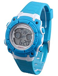 Multifunzione Time100 bambini LED Dial PU banda Japaness Quarzo digitale elettronico Outdoor Sport Watch